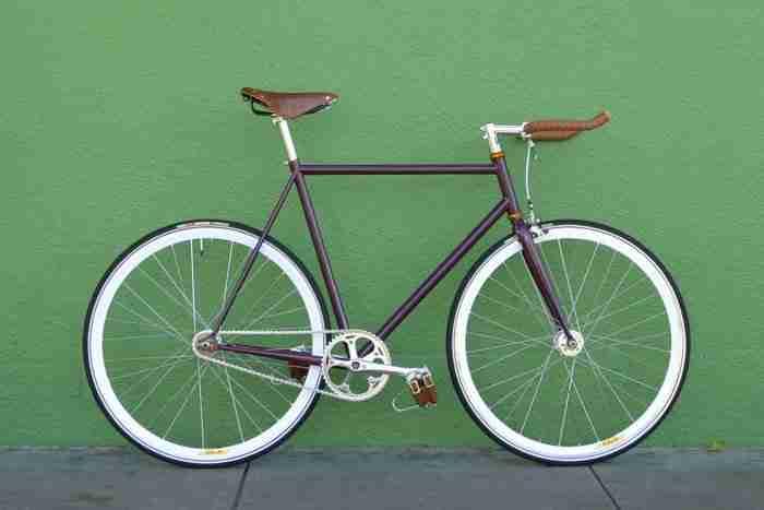 Bicicleta Fixie Púrpura
