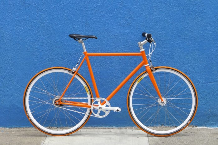 Bicicleta Fixie Orange