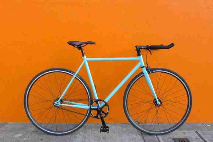 Bicicleta Fixie Celeste
