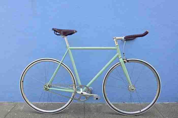 Bicicleta Fixie Menta